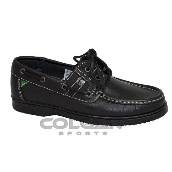 Susst Gaby Black Deck Shoe | Deck shoes