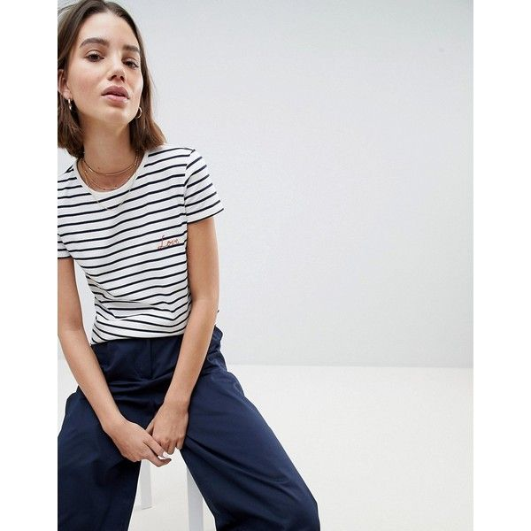 Organic Fairtrade Cotton Long Sleeve T-Shirt In Breton Stripe - White multi stripe People Tree Sale Shop Offer Websites Cheap Price In China Discount Explore zD6AjTkj0g