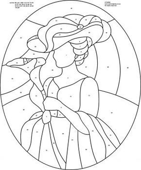 click to view full size image  stained glass patterns