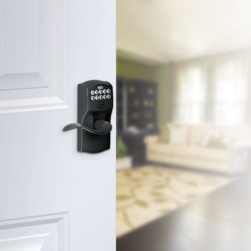 Schlage FE595VCAM619ACC Camelot Keypad Entry with Flex-Lock and Accent Levers