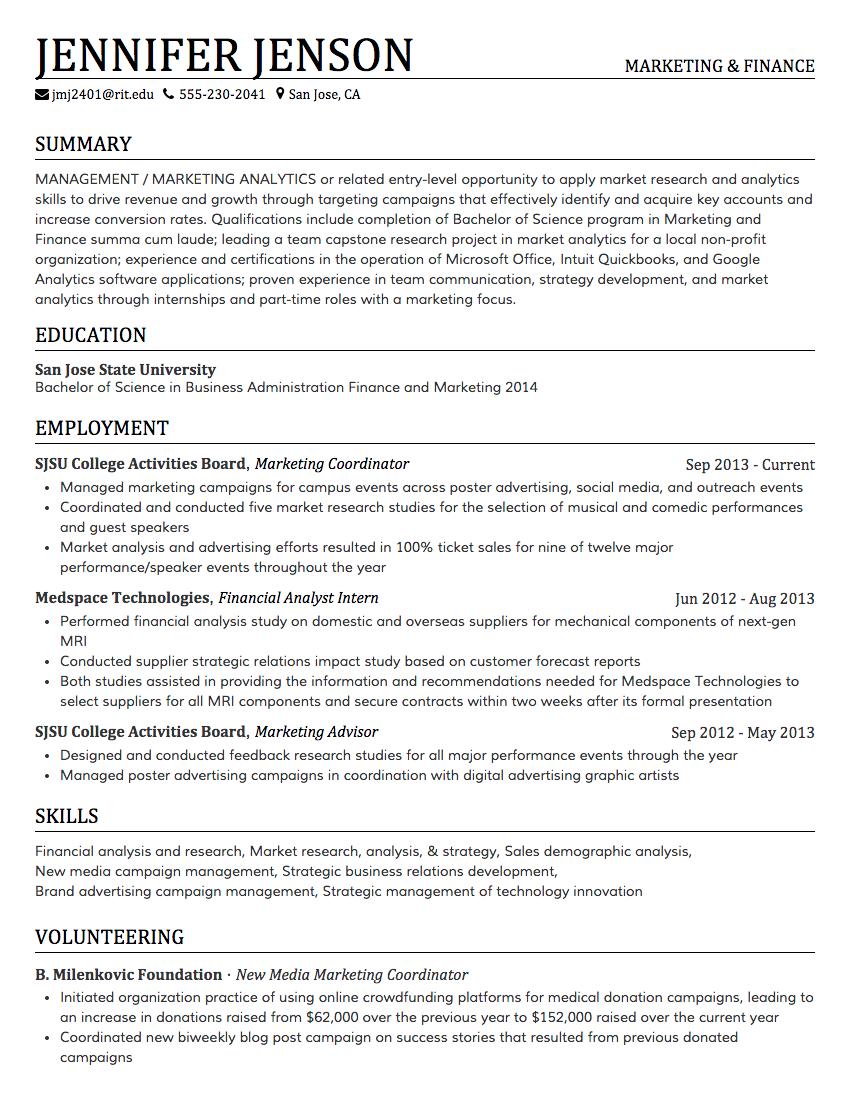Creddle Resume, Cover letter for resume, Internship resume