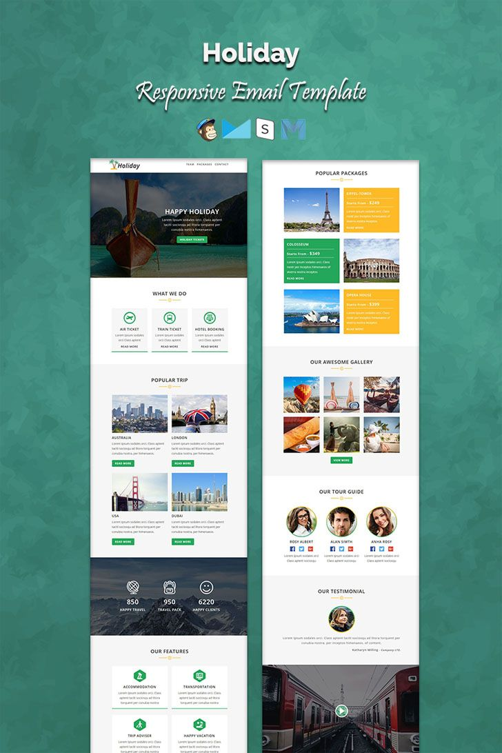 Holiday is a multipurpose responsive email template