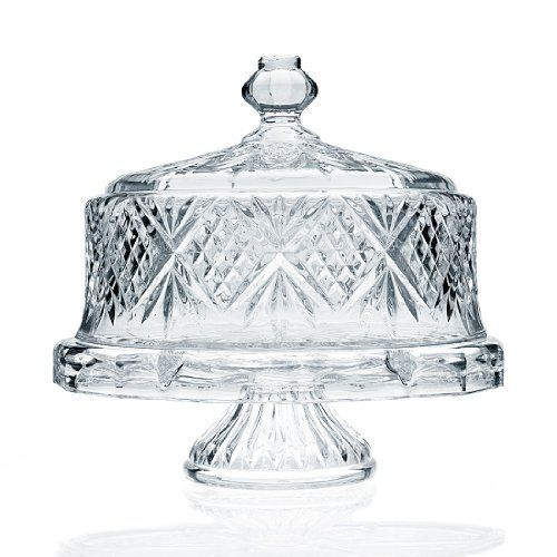 Godinger Dublin Crystal Cake Plate with Dome Cover by Godinger,  COLLECTIBLE DISHWARE AND GLASS to buy just click on amazon here    http://www.amazon.com/gp/product/B003KHC3AA?ie=UTF8&camp=213733&creative=393185&creativeASIN=B003KHC3AA&linkCode=shr&tag=arealdeal-20&kitchen%3D1375674579%3D1-189A