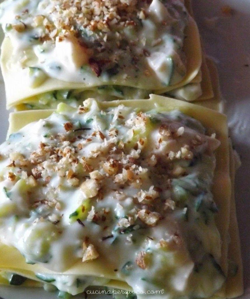 Lasagnetta con zucchine, nocciole fresche e Collina Veneta stravecchio | Cucina per Gioco