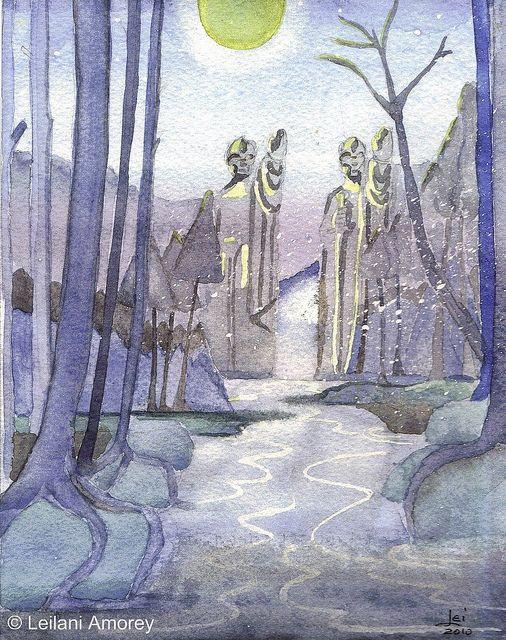 Anduin River Elf art, Tolkien art, Fantasy art