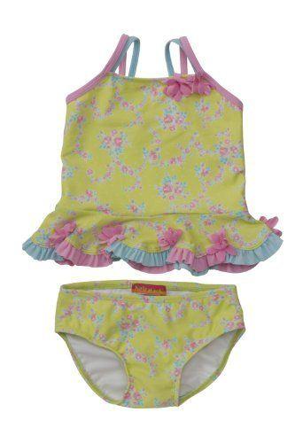 Kate Mack Baby Girls Love Birds 1 Piece Skirted Swim