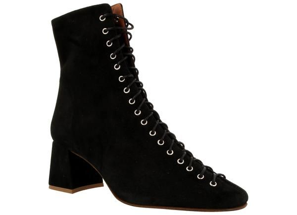 2c4bea6fac6 Becca Black Suede – BY FAR Suede Ankle Boots