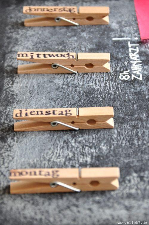 blick7 Kalender [DIY aus Wäscheklammern und Schiefertafel] Cute ideas Wäscheklammern  ~ 07142436_Liegestuhl Aus Geldscheinen Und Wäscheklammern