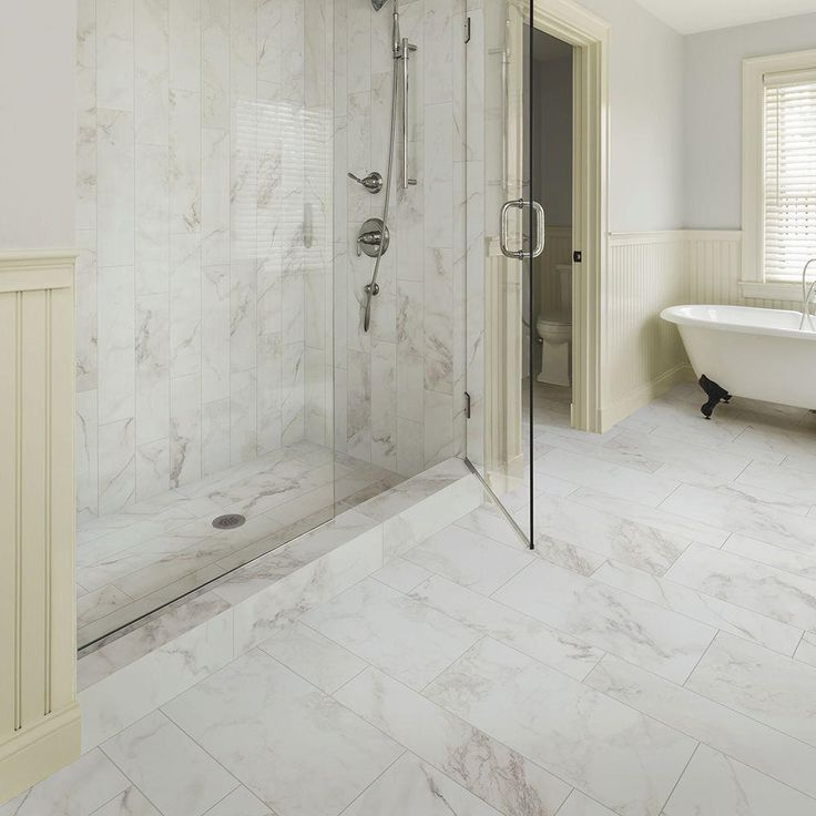 Marble Home Depot Bathroom Flooring For Luxury Look