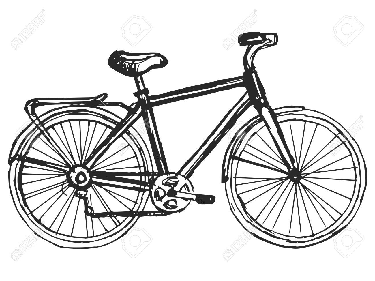 Stock Vector With Images Bicycle Drawing Bike Drawing