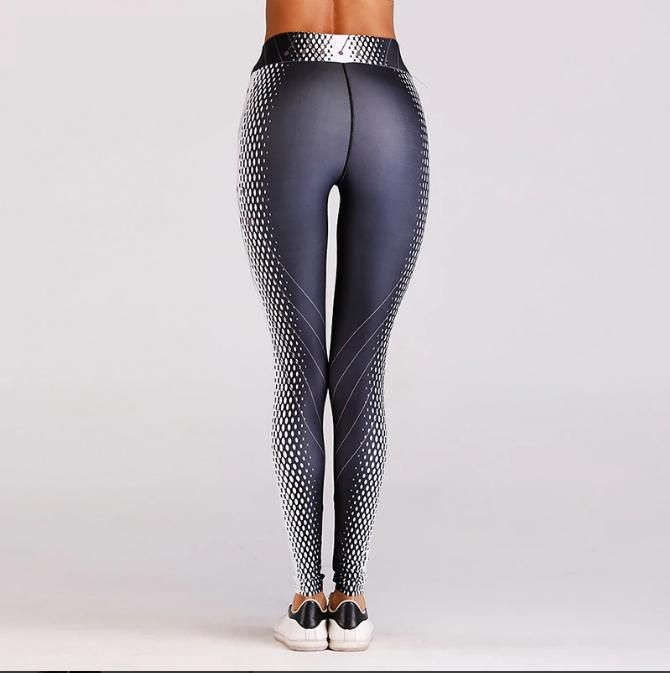 0944ba1b42 Women Athletic Gym Leggings Sport Yoga Pants Printed Running Fitness ...