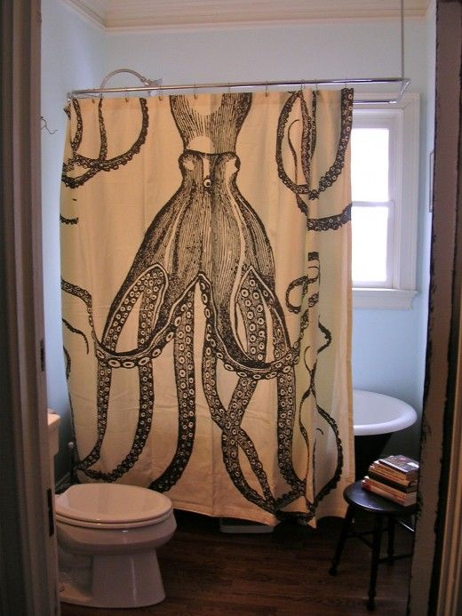 Love This Rebecca Harris Thanks For Sharing My Thomas Paul Octopus Shower Curtain Makes Me Smile