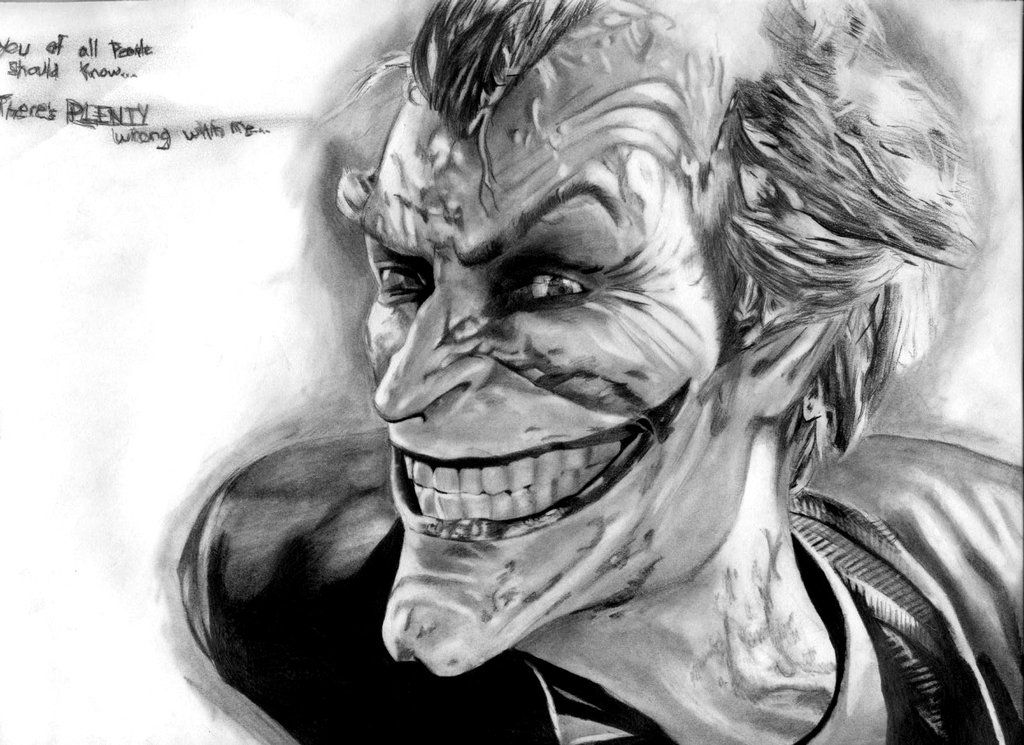 Joker Drawing Arkham City I Think With Images Joker Sketch