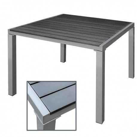 Gartentisch alu 90x90  Gartentisch Alu WPC schwarz 90x90 #garten #gartentisch #gartenmöbel ...