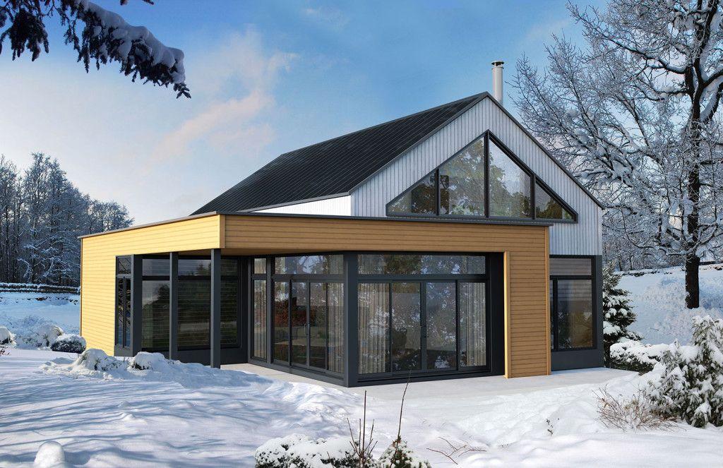 refuges et chalets scandinaves b timents pr fab. Black Bedroom Furniture Sets. Home Design Ideas