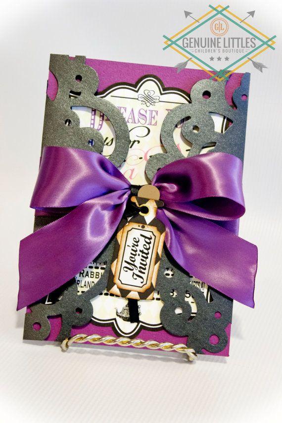 Alice in Wonderland Invitation/Birthday/Shower/Wedding/Mad Hatter ...