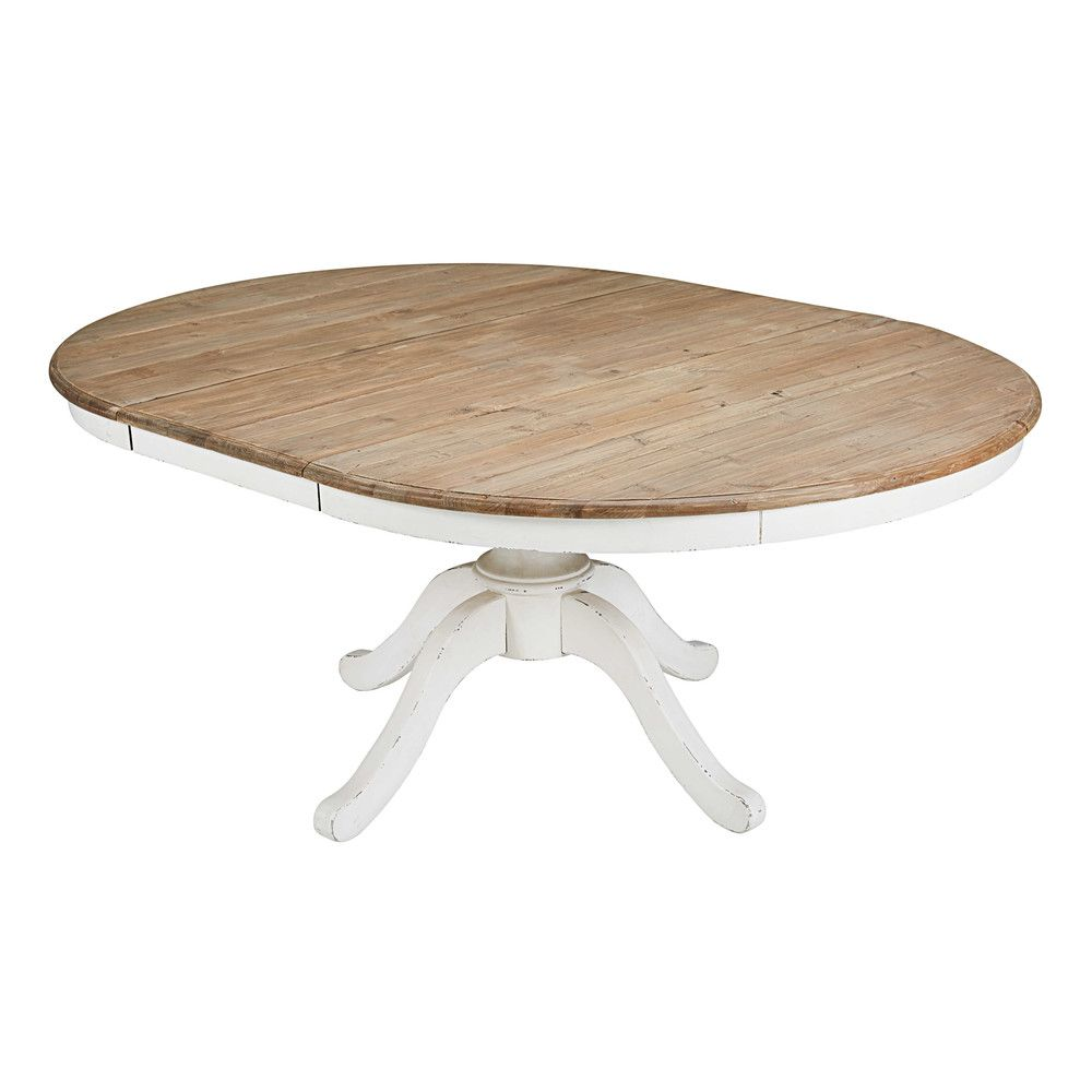Table A Manger Ronde Extensible 6 8 Personnes L140 Provence Maisons Du Monde 8 Seater Dining Table Round Dining Room Table 6 Seater Dining Table