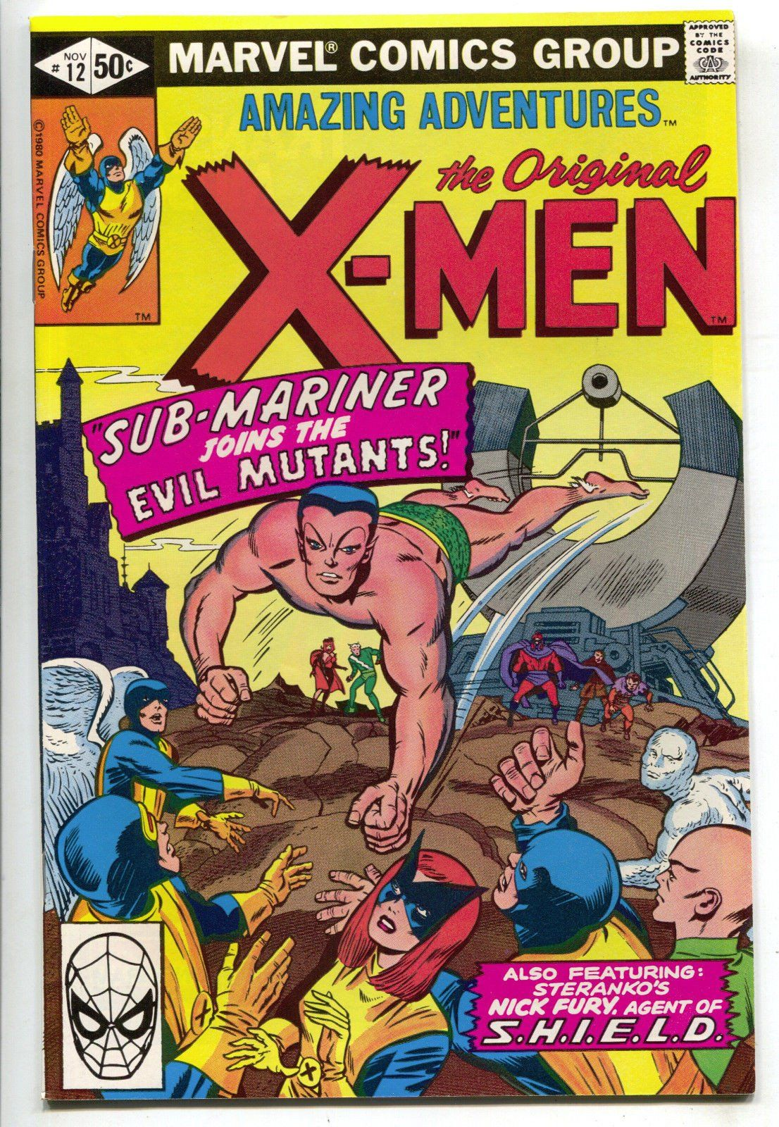 Amazing Adventures 12 Marvel 1980 Nm X Men 6 Strange Tales 168 Sub Mariner Scarlet Witch Crime Comics Comics