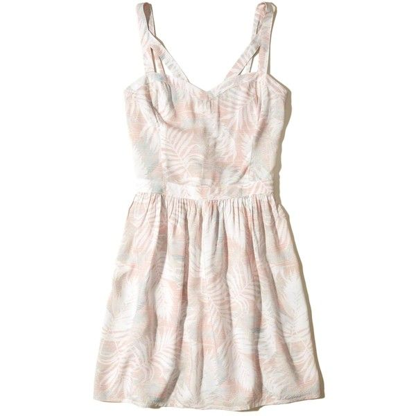 Hollister Strappy Rayon Skater Dress ( 40) ❤ liked on Polyvore featuring  dresses 069820f46