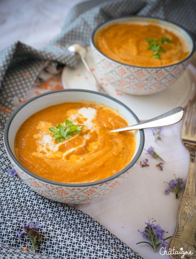 Soupe carottes-lentilles corail - Blog de Châtaigne