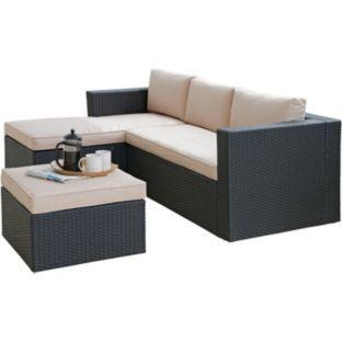 3 seater rattan effect mini corner sofa black arm covers australia buy hand-woven at ...