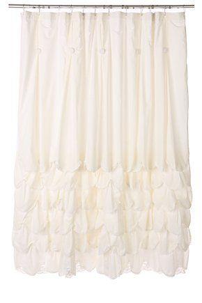 Shabby Chic Multi Layered Curtains Shabby Chic Bathroom Ruffle