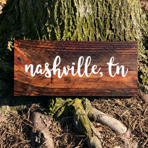 5x12 Reclaimed Wood Nashville sign ready to by PrintingByProxy - 5x12