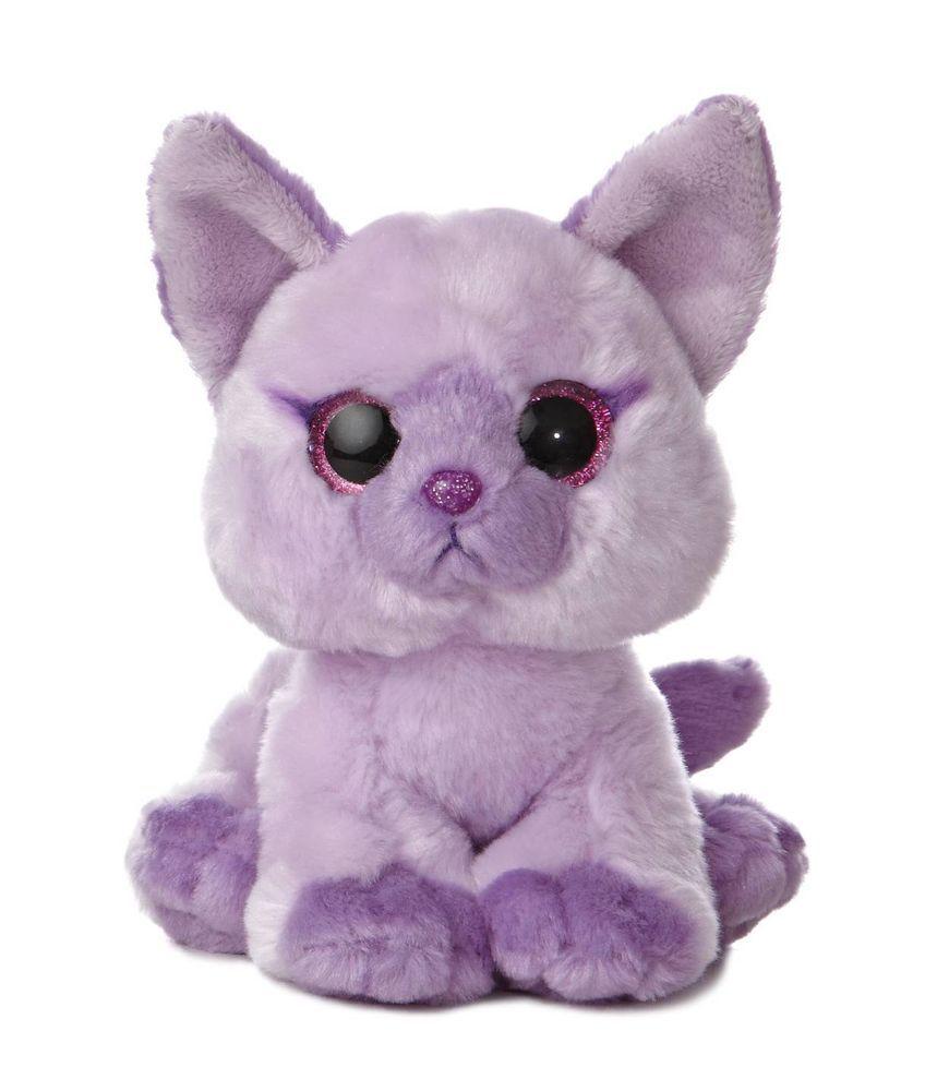 8 Aurora Plush Purple Kitty Cat Kitten Candie Jellybean Stuffed Animal 02442 Aurora Plush Animals Animals Toys
