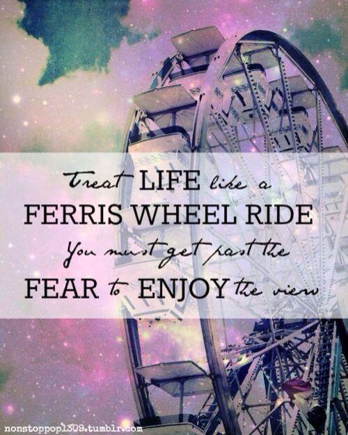 Ferris Wheel enjoy the ride quote | Ferris wheel quotes ...