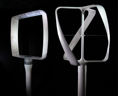 micro wind turbine designed for home use. philippe starck.