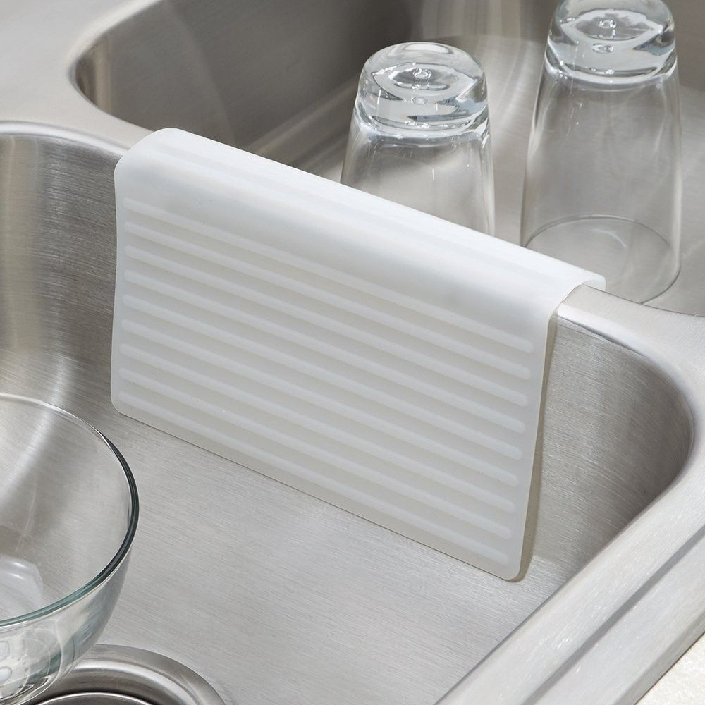 InterDesign 64180 Lineo Kitchen Sink Saddle Double Sink Protector ...