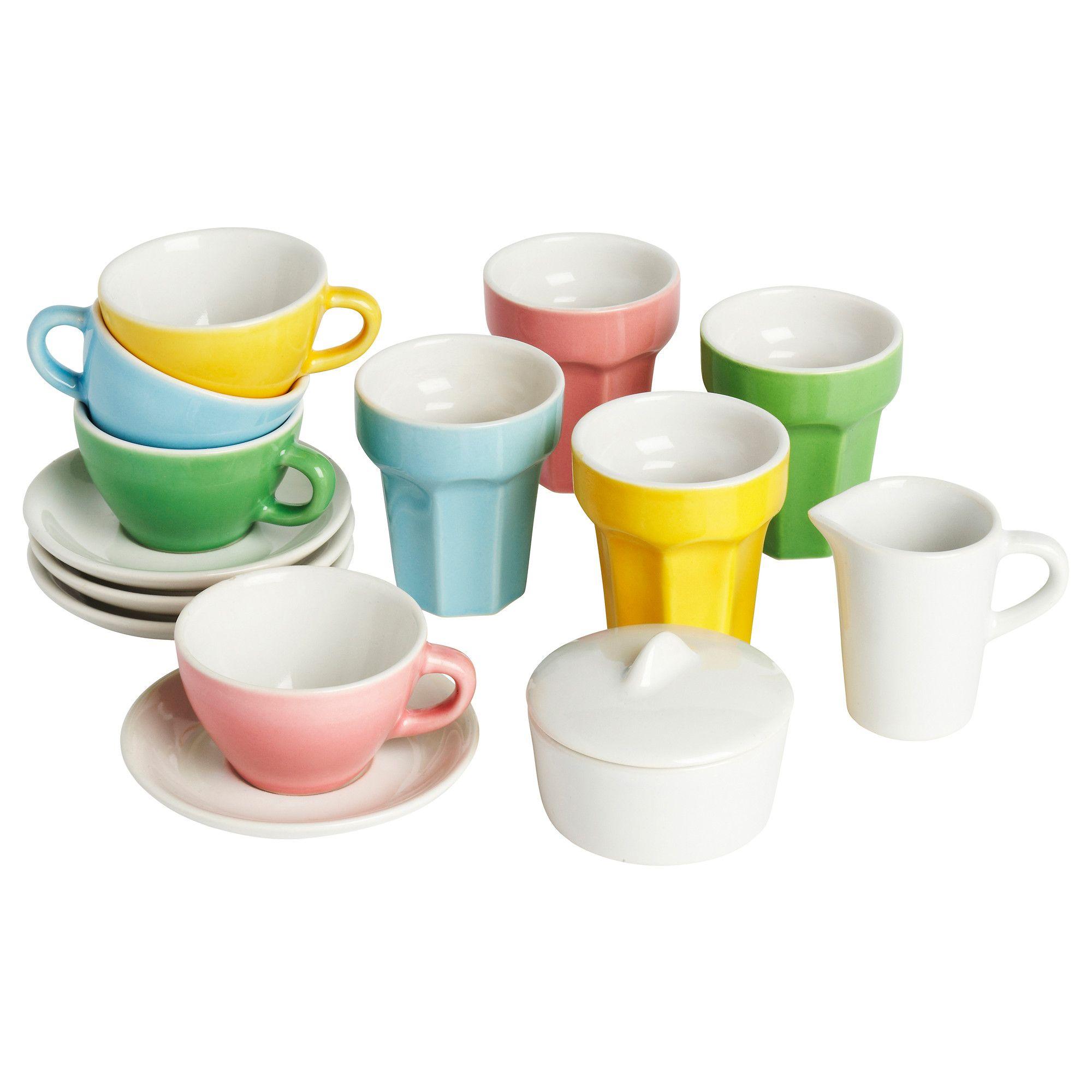 IKEA - DUKTIG, Kahvi-/teetarvikkeet, 10 osaa,  , , Kannustaa lasta…