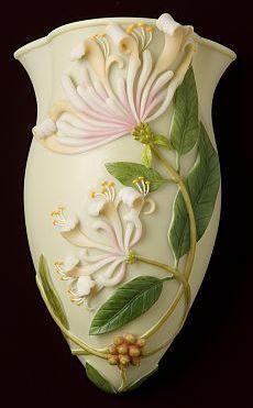 Honeysuckle Wall Decor / Wall Vase | Ceramic | Pinterest | Wall ...