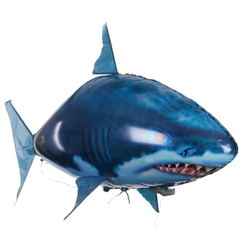 Remote Control Flying Shark Fish RC Radio Air Swimmer Inflatable Blimp kids boys