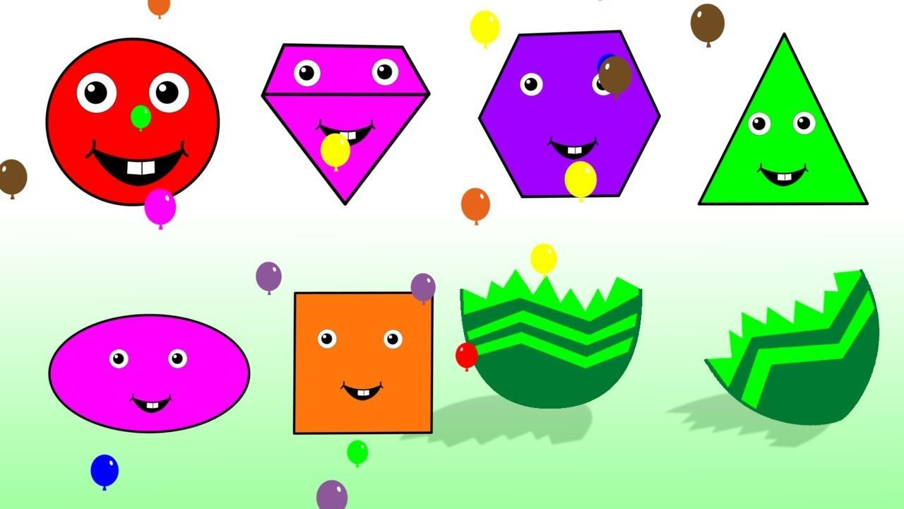 Learn Shapes And Colors With Colorful Balloons For Kids Children ...