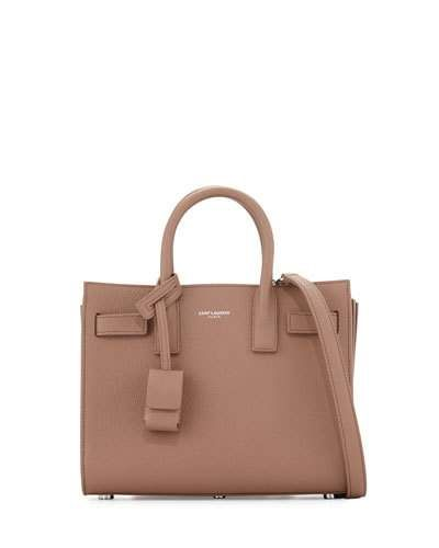 Sac de Jour Nano Leather Satchel Bag, Rose Beige