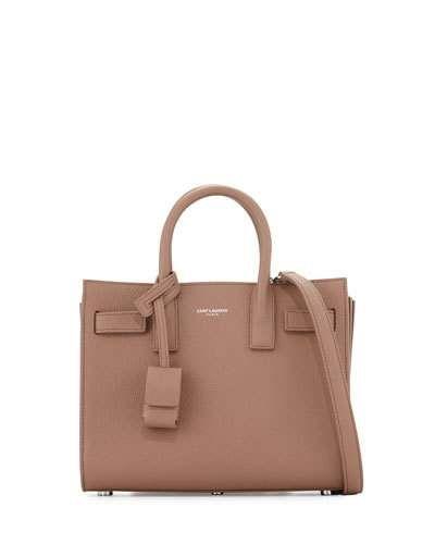 Sac de Jour Nano Leather Satchel Bag, Rose Beige
