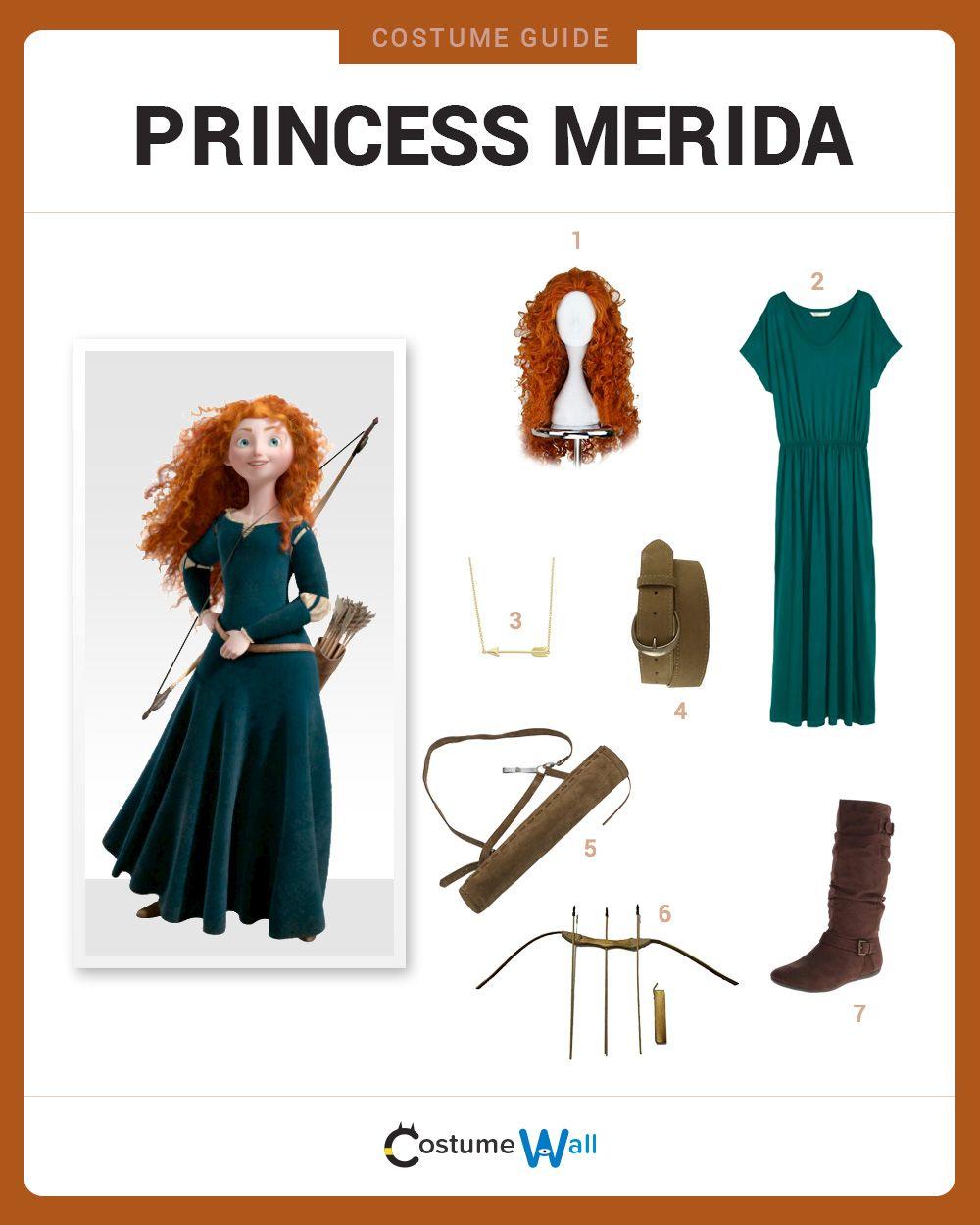 Dress Like Princess Merida Merida Costume Merida Costume Kids Merida Brave Costume
