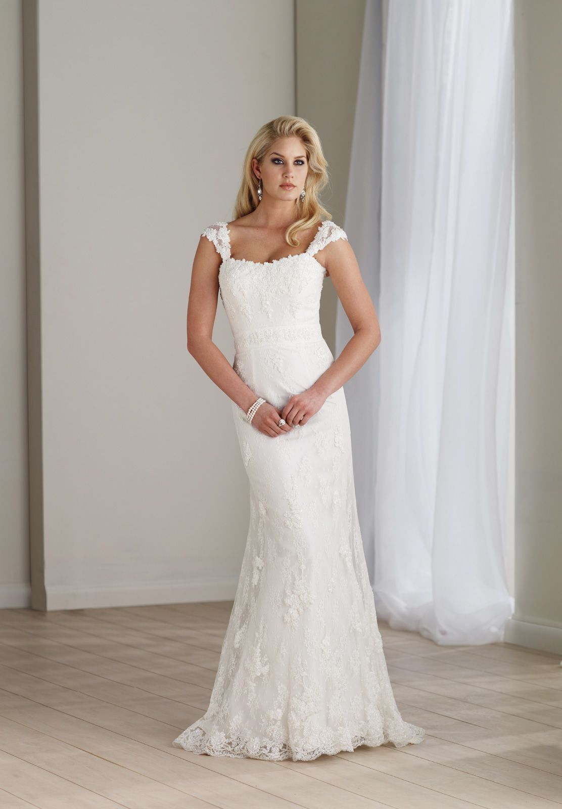 Bateau Wedding Dresses Lace A Line Elegant Dress