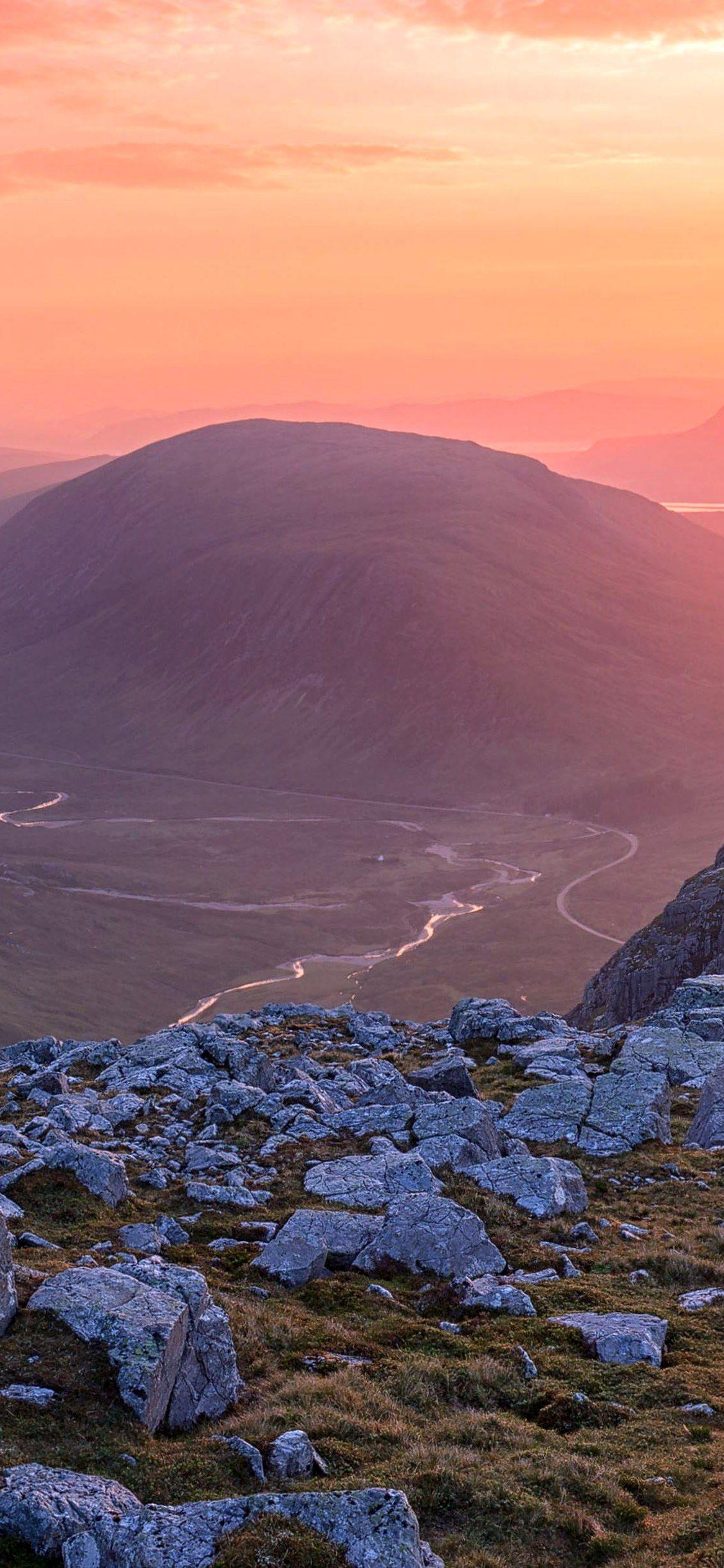 f ilte gu rocky mountains sunset wallpaper Iphone X