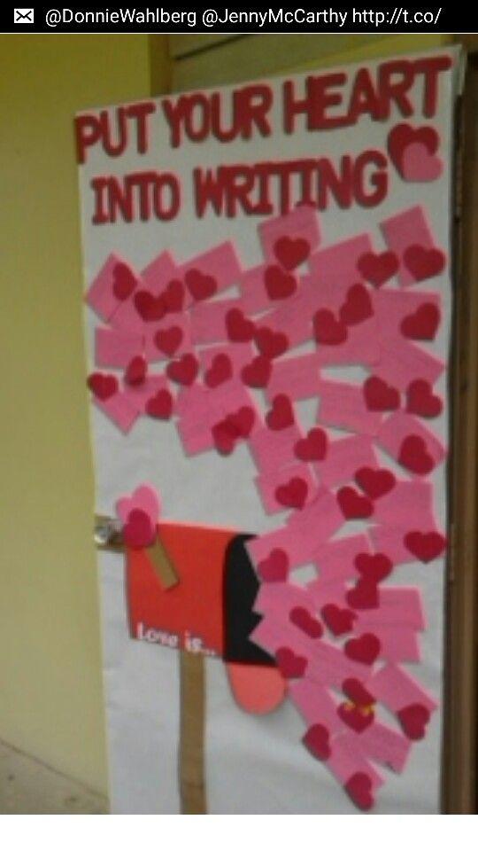 Valentine S Class Door Theme Classroom Ideas Pinterest