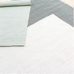 Photo of Herringbone Outdoorteppich pearl grey 274×183 Dash & AlbertDash & Albert