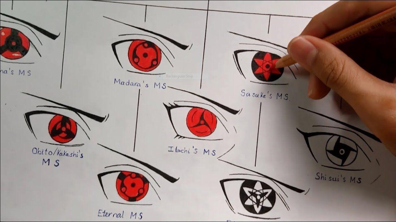 Drawing All Mangekyou Sharingan Forms Evolution Of Sharingan Kakashi Mangekyou Sharingan Sharingan Eyes Kakashi Drawing