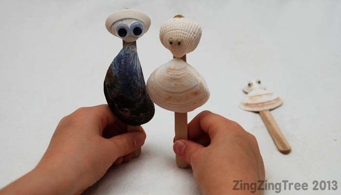 Shell Puppets Parents