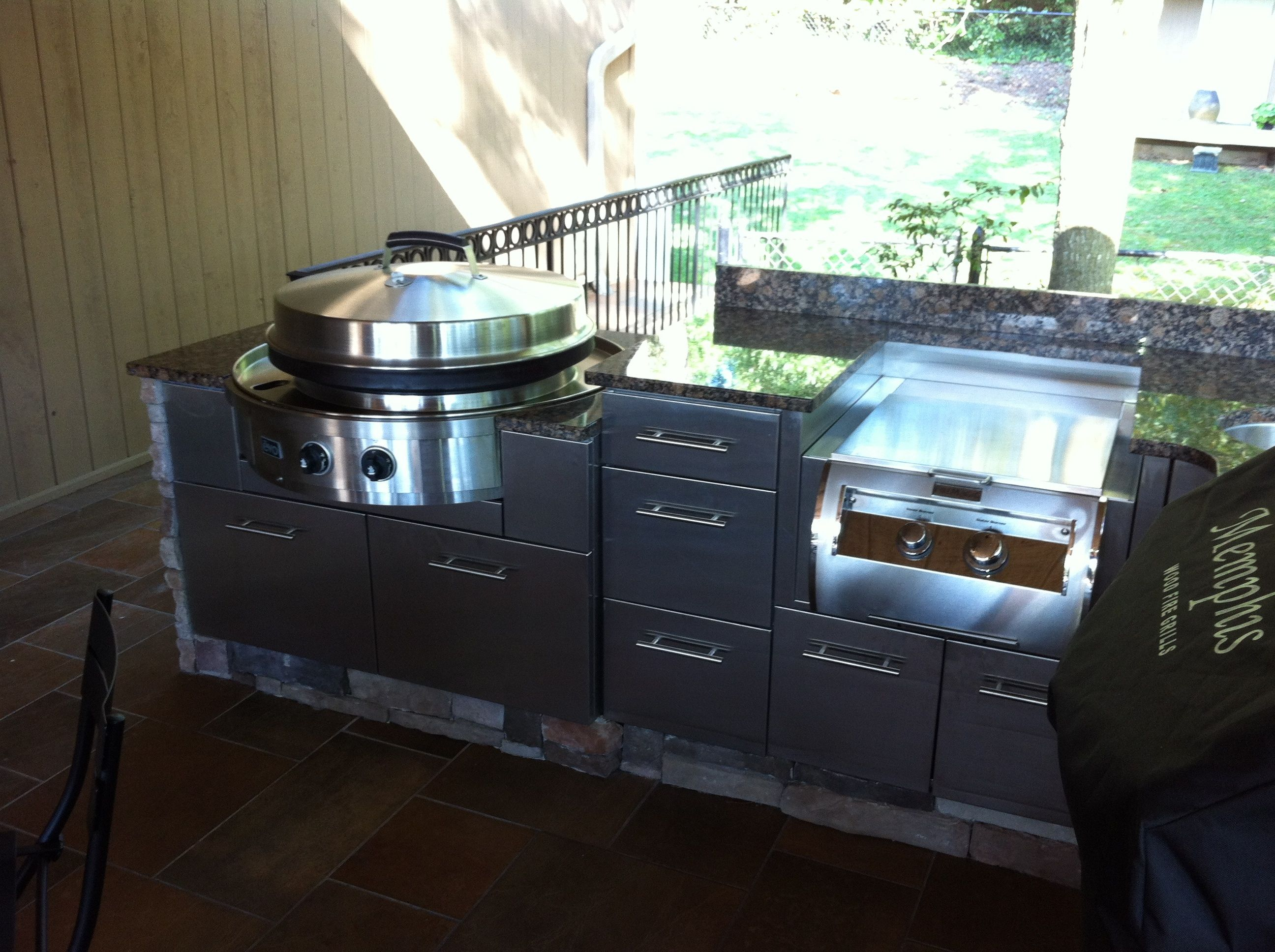 Best A Fireside Outdoor Kitchen Using The Evo 30G And The Power 640 x 480