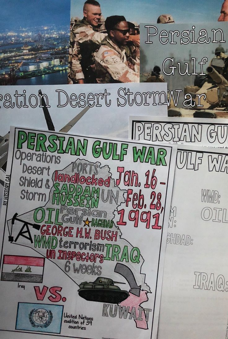 Photo of Persian Gulf War Review Page and PowerPoint