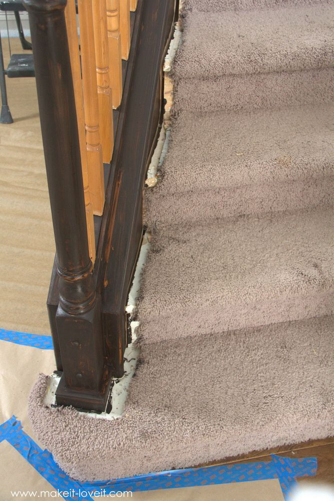 Best How To Paint Stain Wood Stair Railings Oak Banisters 400 x 300