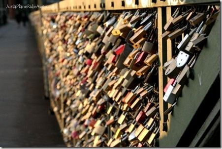 love locks in koln, germany.