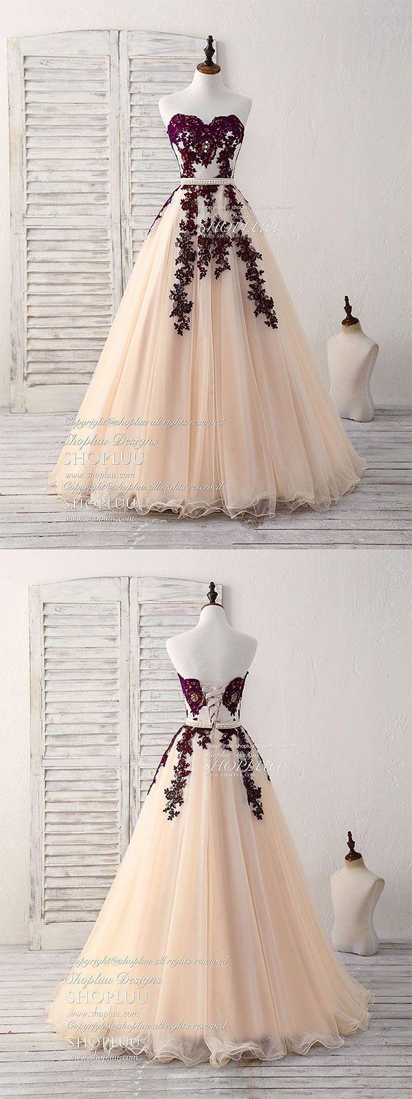 Langes Burgunder Tüll Abendkleid, Burgunder Abendkleid - Die