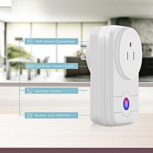 Smart Plug WiFi Remote Control On App Hiwild Mini Socket Compatible